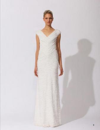 Tadashi shoji designer wedding dresses onewed for Saks fifth avenue wedding dresses los angeles