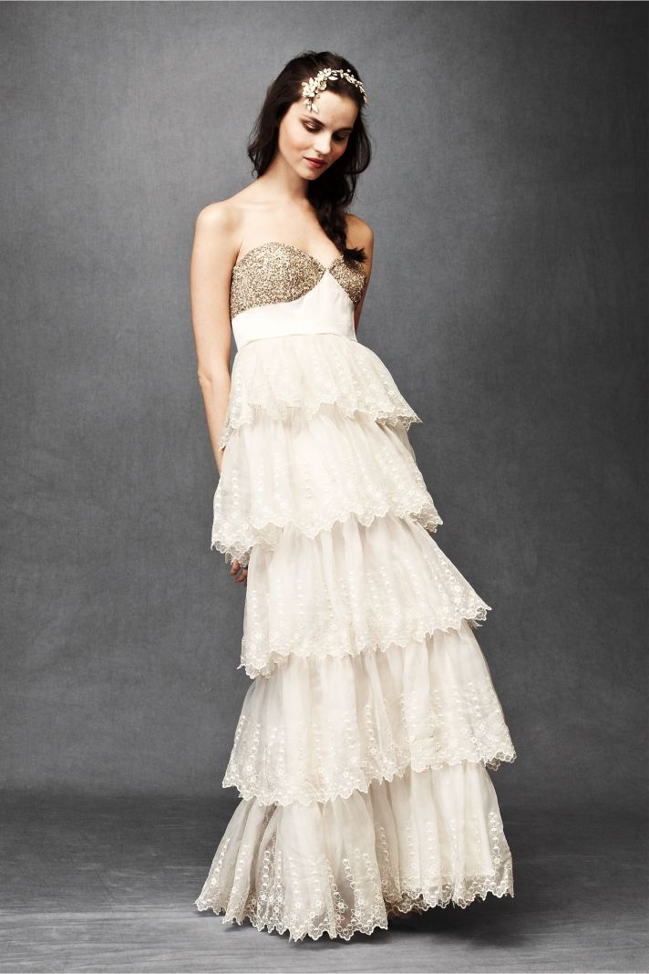 Burnished Organza Gown