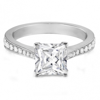 Images of Hearts On Fire Princess Cut Engagement Ring