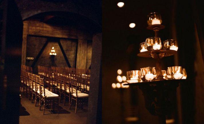 gorgeous, candlelit ceremony venue