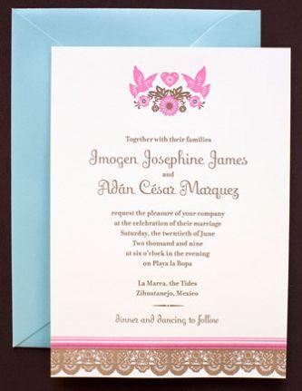 Mi Amor Digital Wedding Invitation from HelloLucky