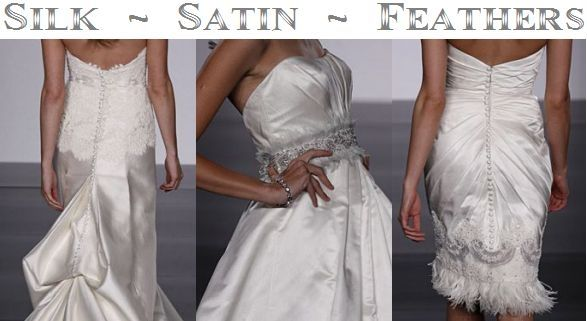 Trends for 2010 Wedding Dresses- Silk, Satin, and Feathers