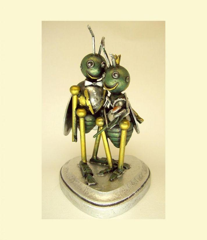 Love bug wedding cake toppers