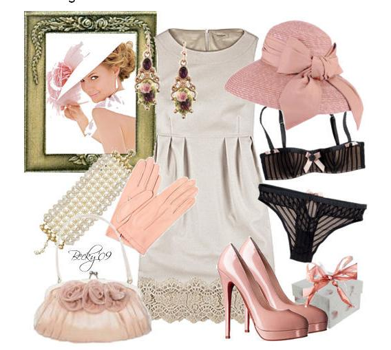 Blush pink pearl ivory and black are a killer combination for a clasic