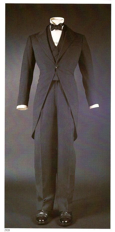 The Duke of Windsor's dark grey worsted 3-piece morning suit.