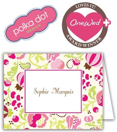 OneWed loves wedding stationery from Polka Dot Designs