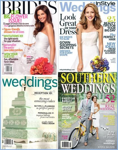 Bridal magazines- a great place to pull wedding inspiration from
