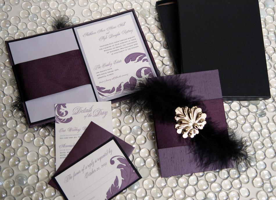 Silver And Purple Wedding Invitations: Wedding Invitations On Pinterest