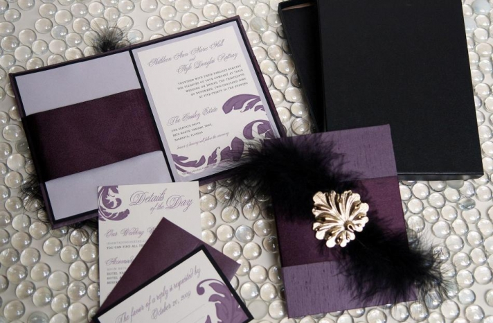 u2collection-couture-custom-wedding-invitations-stationery-etsy-purple-black-gold-silver-letterpress