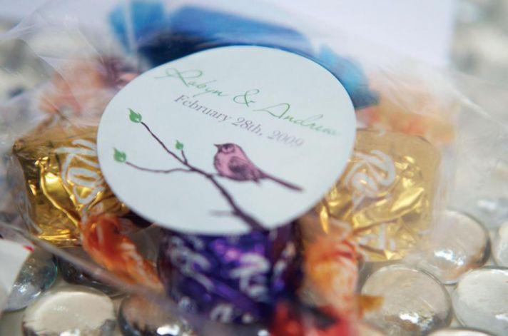 Beautiful garden wedding theme sticker for favors & gifts