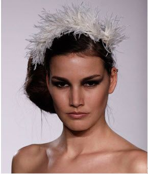 Melissa Sweet: Bridal feather headband