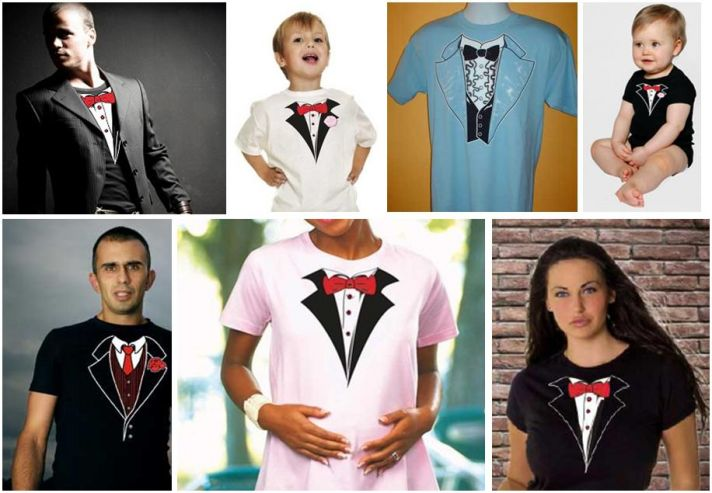Tuxedo T-Shirts for all shapes and sizes- fun attire for bachelorette parties, gifts for your ring b