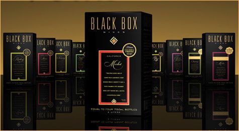 Black Box offers many varieties of wine in a box.