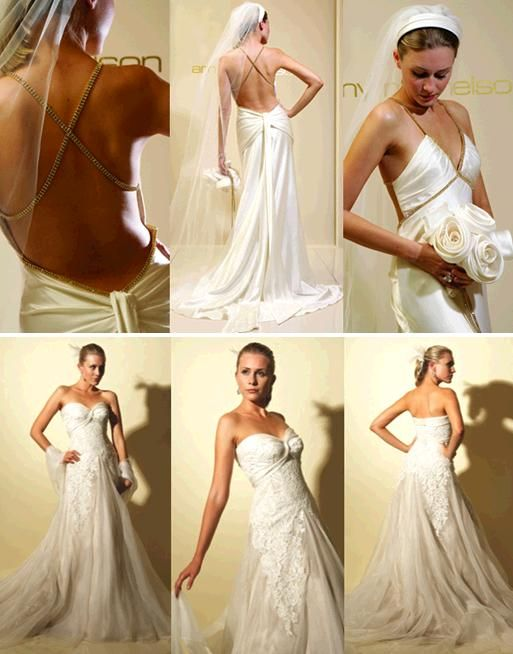 The Gold Rush wedding dress and MGM wedding dress from Amy Michelson- sexy and stunning