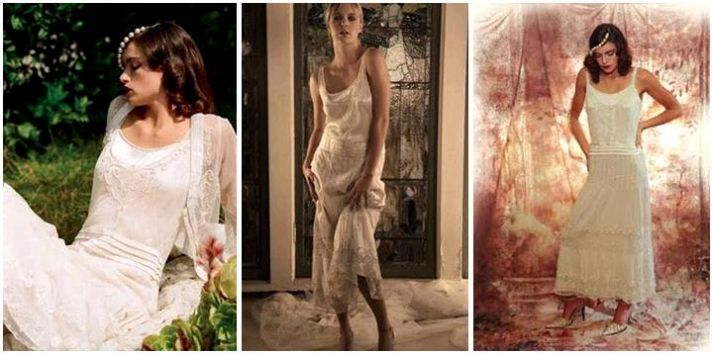 The chemise (or sheath) wedding dress- inspired by Twiggy, sleek, chic, and vintage-inspired