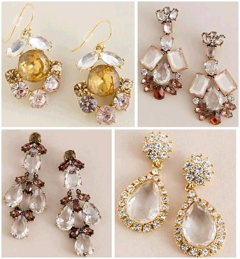 Stunning drop earrings from J.Crew- with a bridal updo, these earrings make a statement