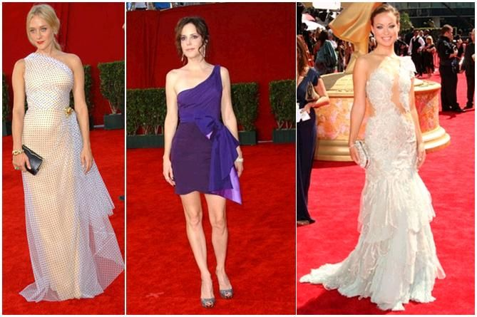 Stunning one-shoulder gowns graced the red carpet at the 2009 Emmys