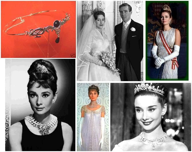 Audrey Hepburn wears three different types of tiaras in My Fair Lady, Roman Holiday, and Breakfast a