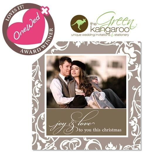 OneWed loves The Green Kangaroo and their gorgeous wedding invitations, stationery and holiday cards