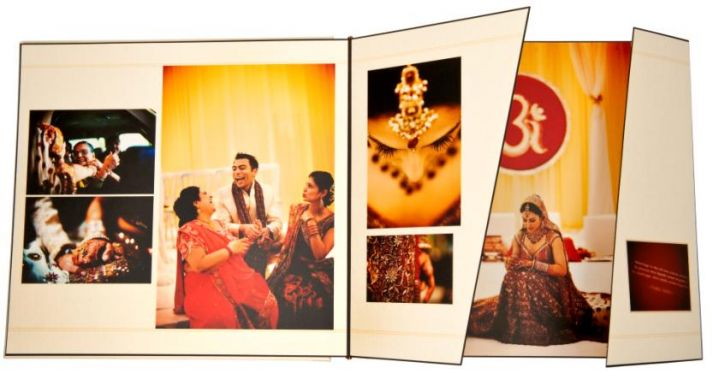 Amazing one-of-a-kind wedding album created by Chicago wedding photographer, Kevin Weinstein