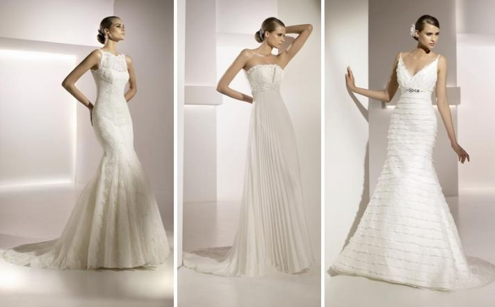 All lace wedding dress with boat neck and mermaid skirt, from Pronovias