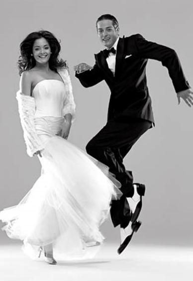 Fun with your groom at the wedding reception- Perfect dress for dancing!