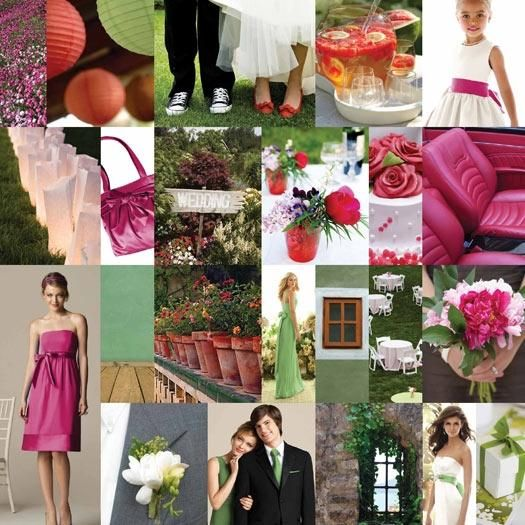 This sage, green, fushia, and pink wedding inspiration board will inspire you to create your own sty