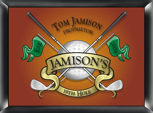 19th Hole Pub Sign personalized valentine's day gift