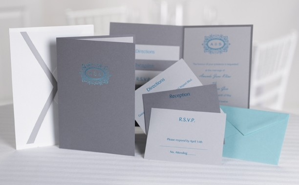 COOL BLUE wedding paper