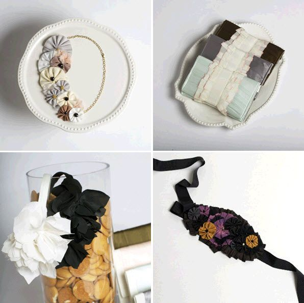Lovely bib necklace, floral headbands and clutches for you and your bridesmaids!