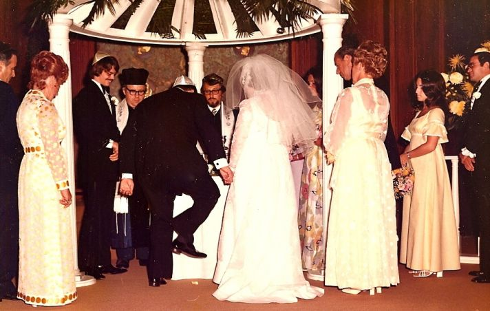 The Glass At This Traditional Jewish Wedding Ceremony From The 1960s