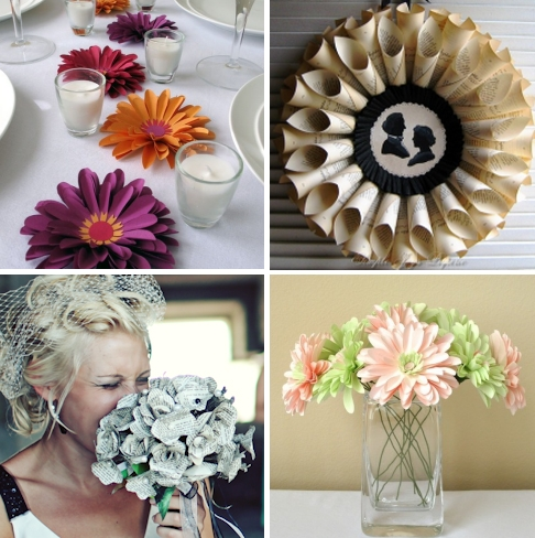 Get creative gorgeous bridal bouquet and wedding table centerpieces made