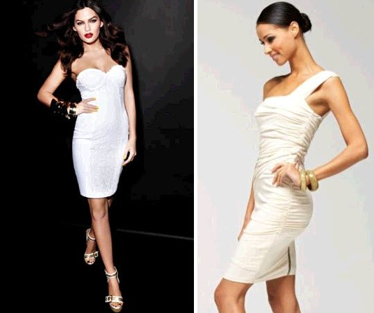 White cocktail dresses perfect for your wedding reception