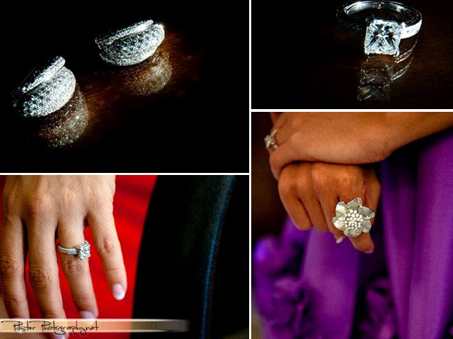 Bling, bling! Diamond engagement ring and wedding bands