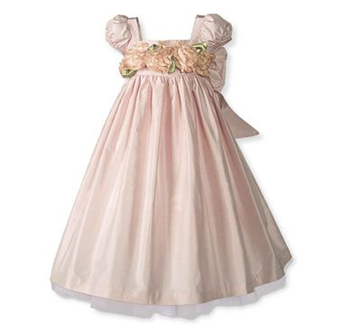 Light pink cap sleeved flower girl dress from The Wooden Soldier