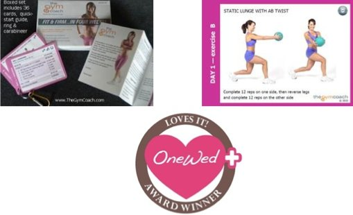 The Fit and Firm in four weeks program is great for a bride who wants to be in shape for her wedding