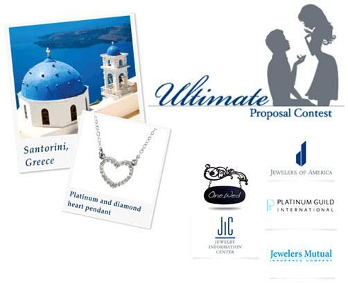 The Ultimate Proposal Contest from PGI and OneWed includes a getaway to Santorini Greece.