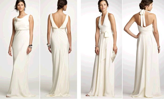 White J.Crew wedding dresses perfect for the unfussy bride-to-be