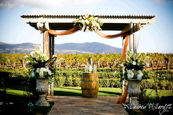 Trellis Outdoor Wedding Ceremonies: Featured Wedding At Temecula, CA Winery: Candice And John
