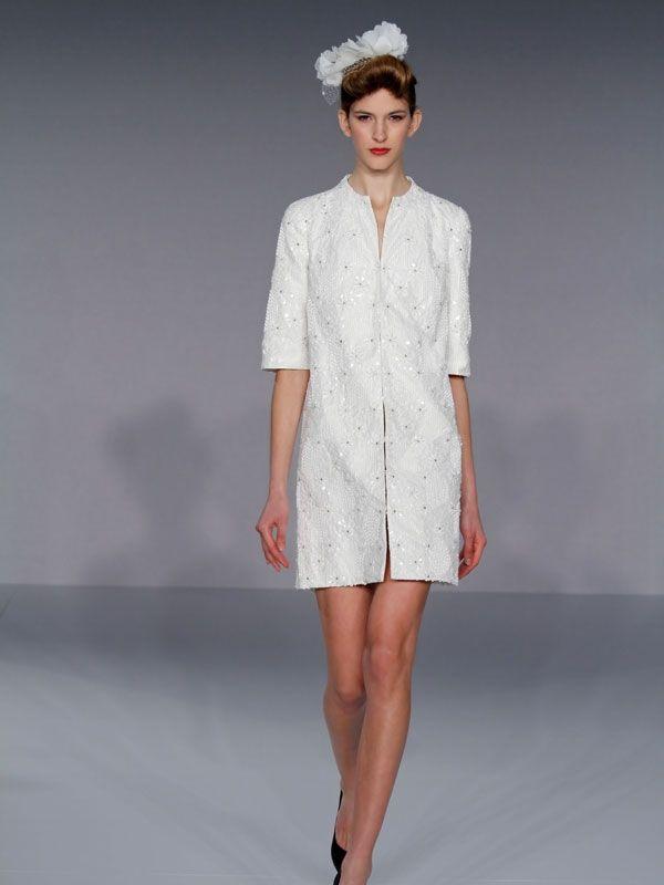 Jackie O inspired three-fourth-sleeve bridal jacket
