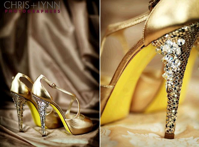 Yellow Bridal Shoes Photo Album - Weddings Pro