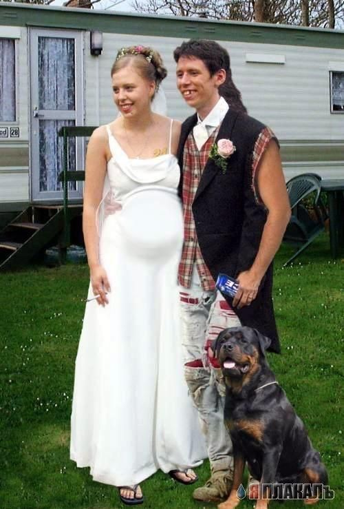 Trailer park wedding?  Cut the mullet, soul patch, or handlebar mustache before your wedding photos