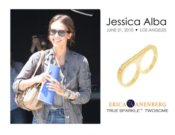 Accessorize like Jessica Alba! Win this week's Savvy Steal- the Erica Anenberg French Kiss Twosome r