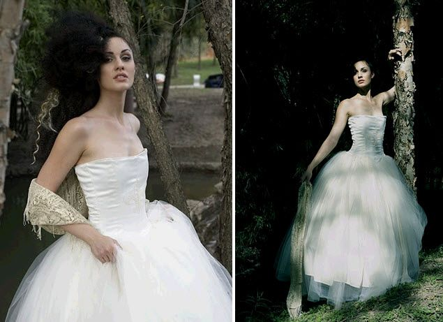 Gorgeous tulle ballgown wedding dress available on Etsy