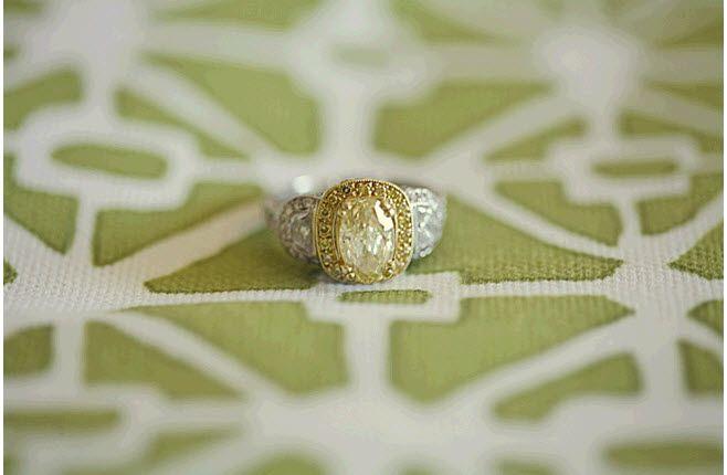 Stunning yellow canary diamond engagement ring