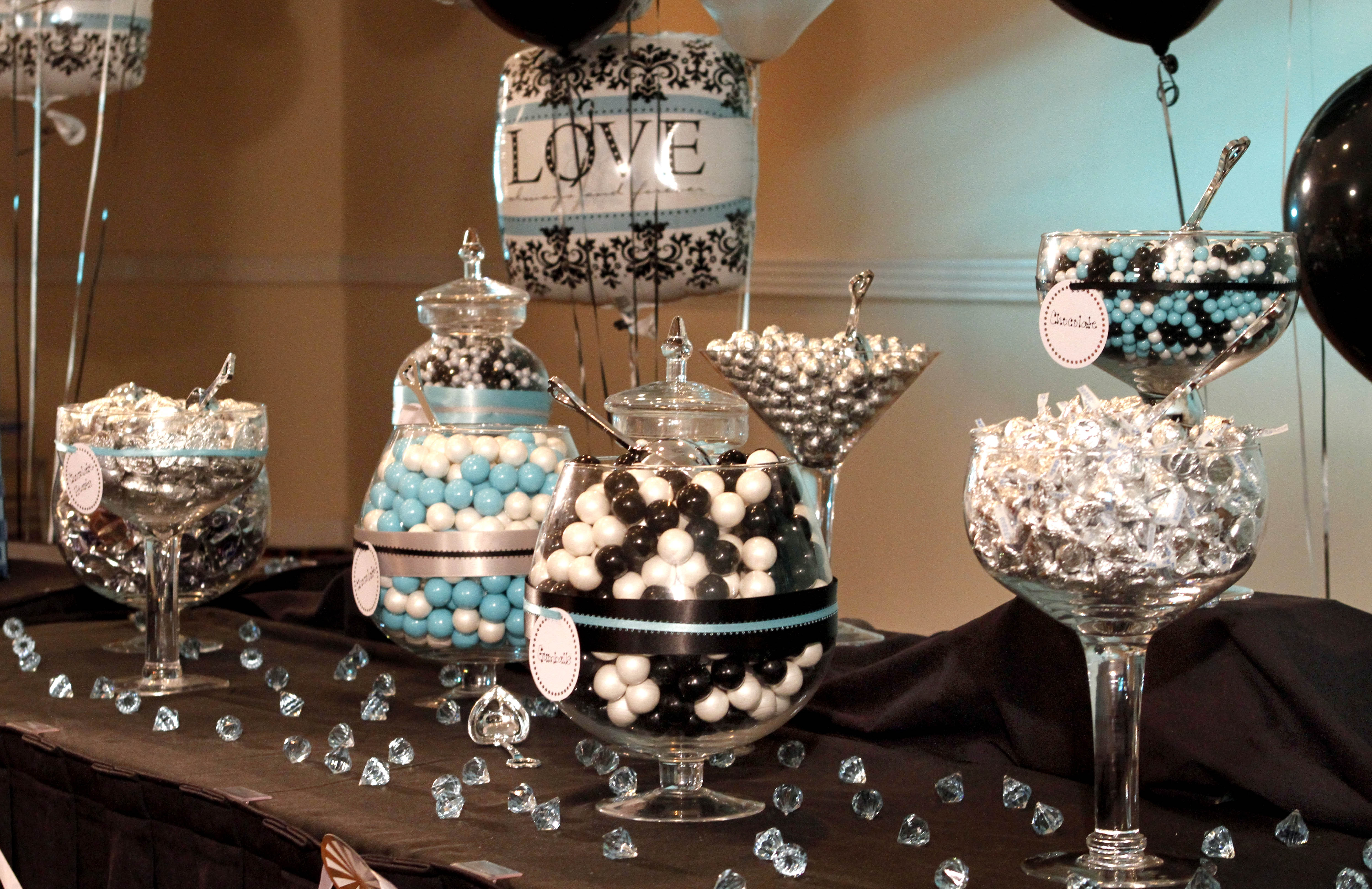 Turquoise And White Wedding Decorations 17 Best Images About Junes Anniversary On Pinterest Candy Bars