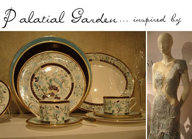 Palatial Garden china pattern from Marchesa by Lenox fine china collection