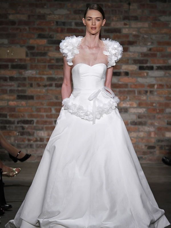 snow white frock is an absolute dream for a winter wonderland wedding