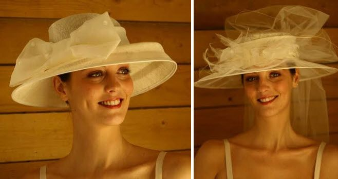 Make a statement with a dramatic picture hat on your wedding day