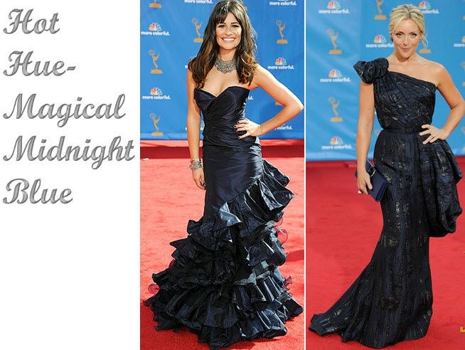 Midnight blue red carpet looks from Lea Michele and Jane Krakowski